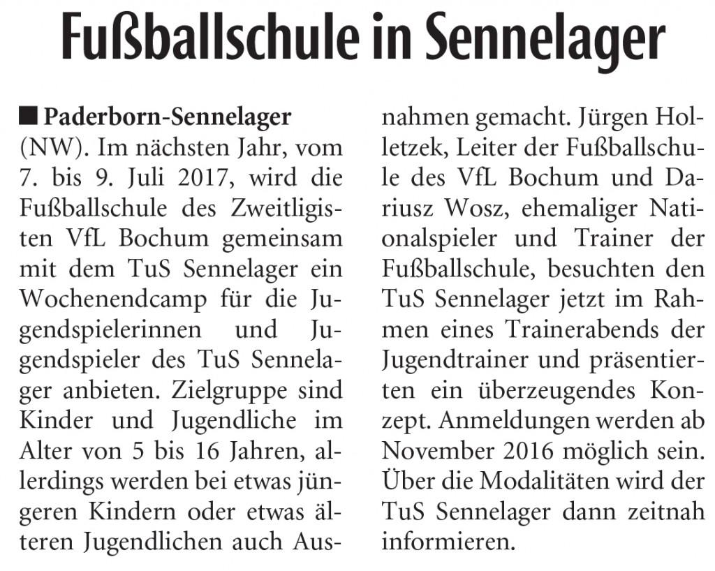 Fußballschule in Sennelager
