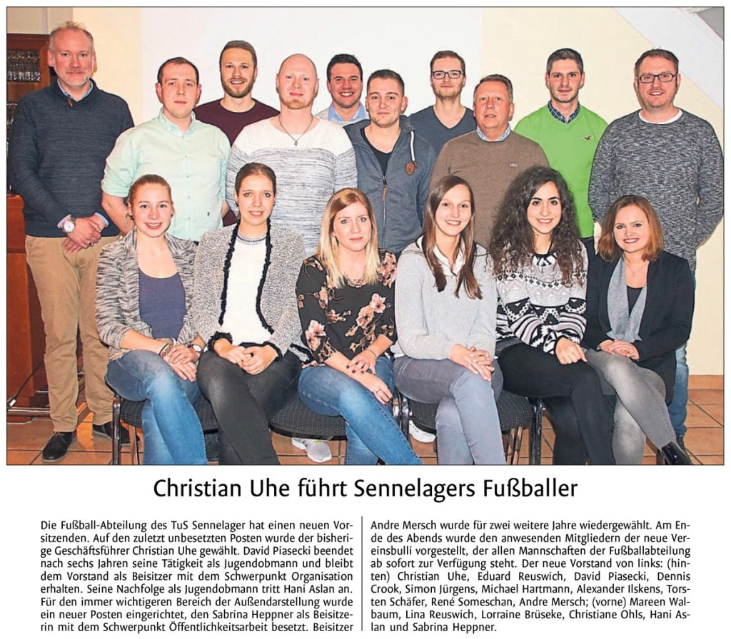 Christian Uhe führt Sennelagers Fußballer